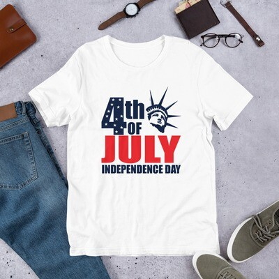 4th of July independence day Short-Sleeve Unisex T-Shirt