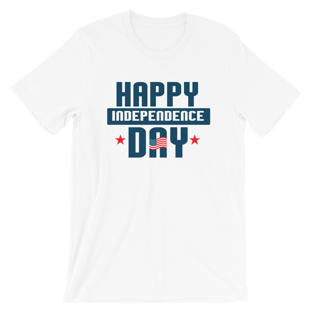 Happy 4th of July independence day 2 Short-Sleeve Unisex T-Shirt