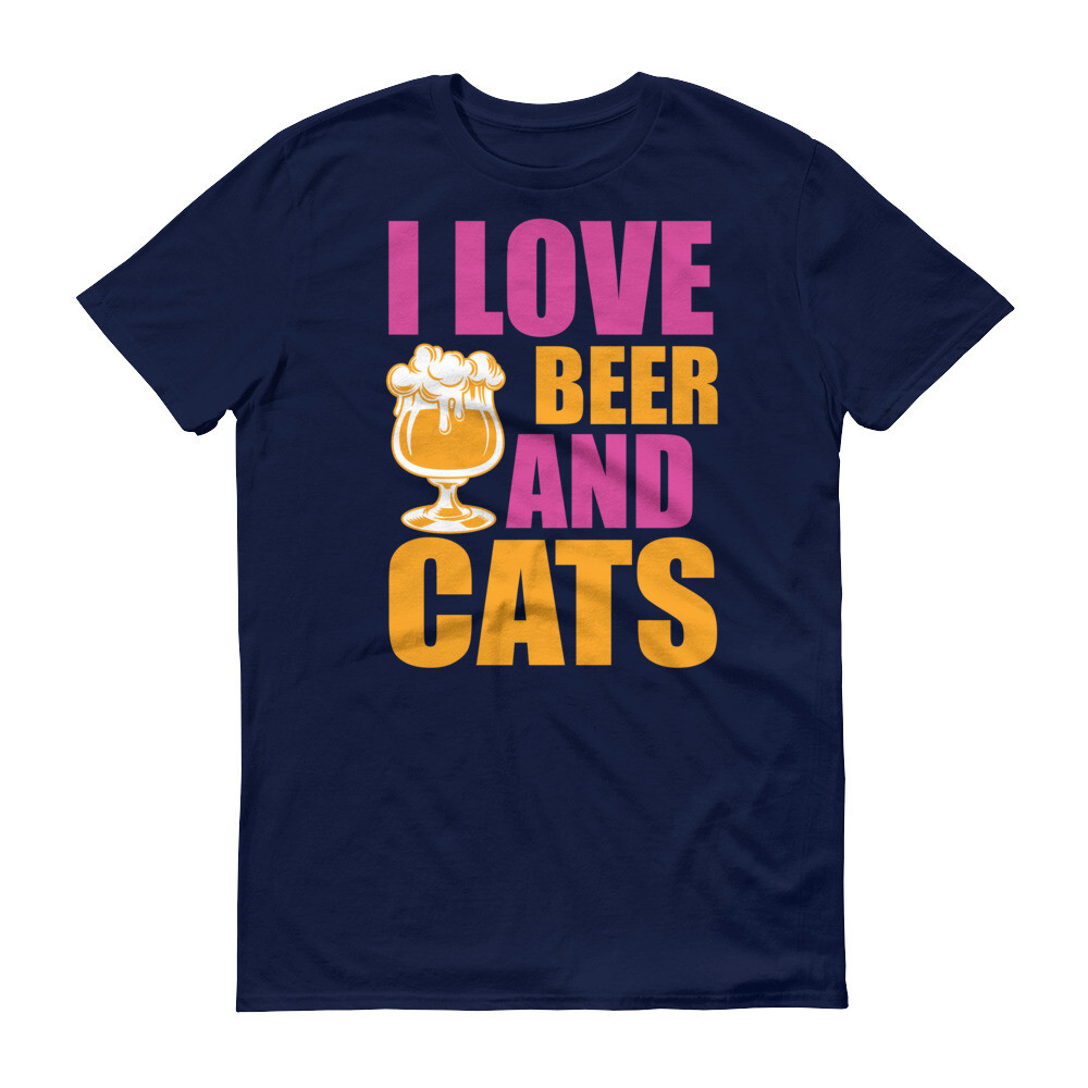 I love beer and cats Short-Sleeve T-Shirt