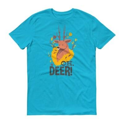 Oh deer reindeer Short-Sleeve T-Shirt