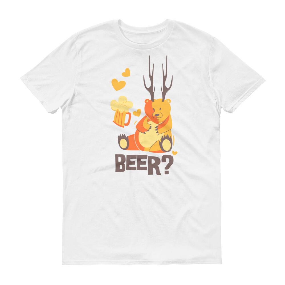 Bear beer hugging Short-Sleeve T-Shirt