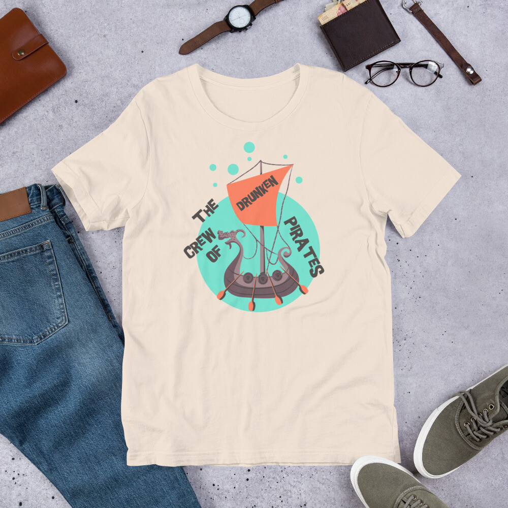 The crew of drunken pirates Short-Sleeve Unisex T-Shirt