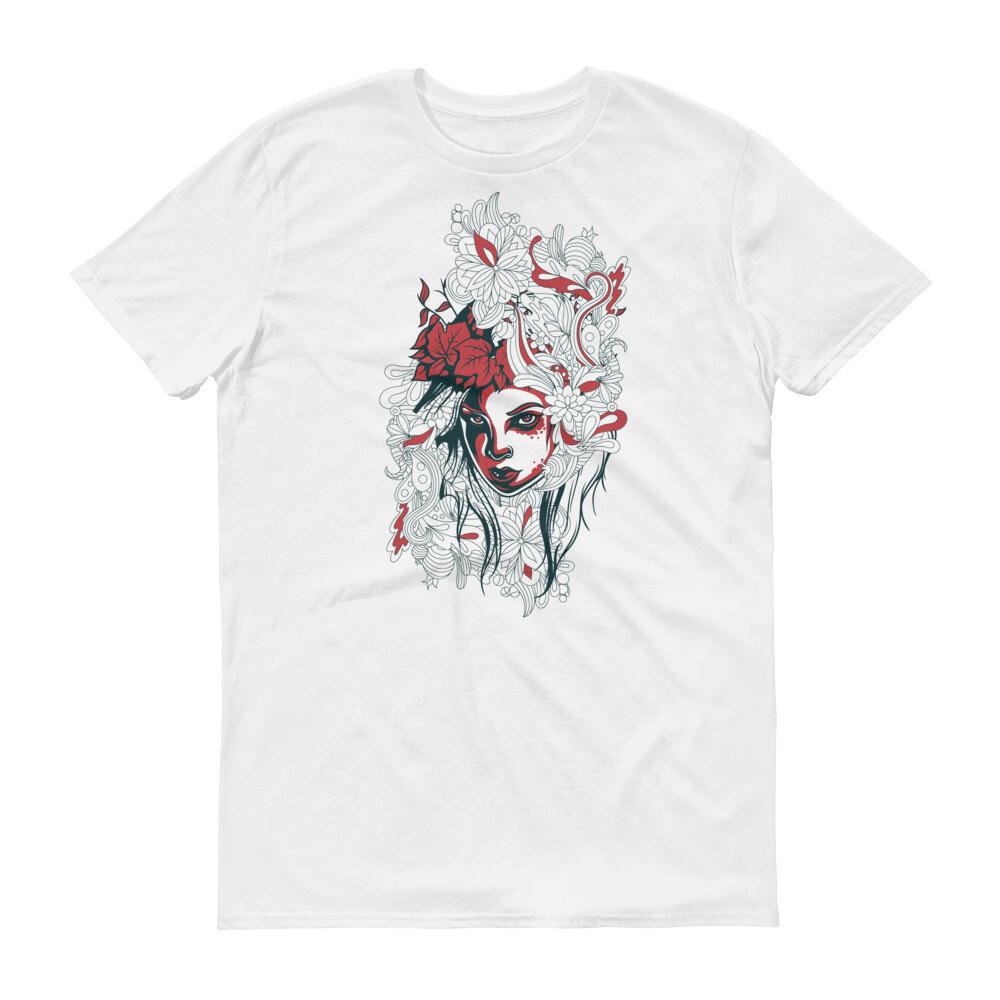 Woman rose art Short-Sleeve T-Shirt