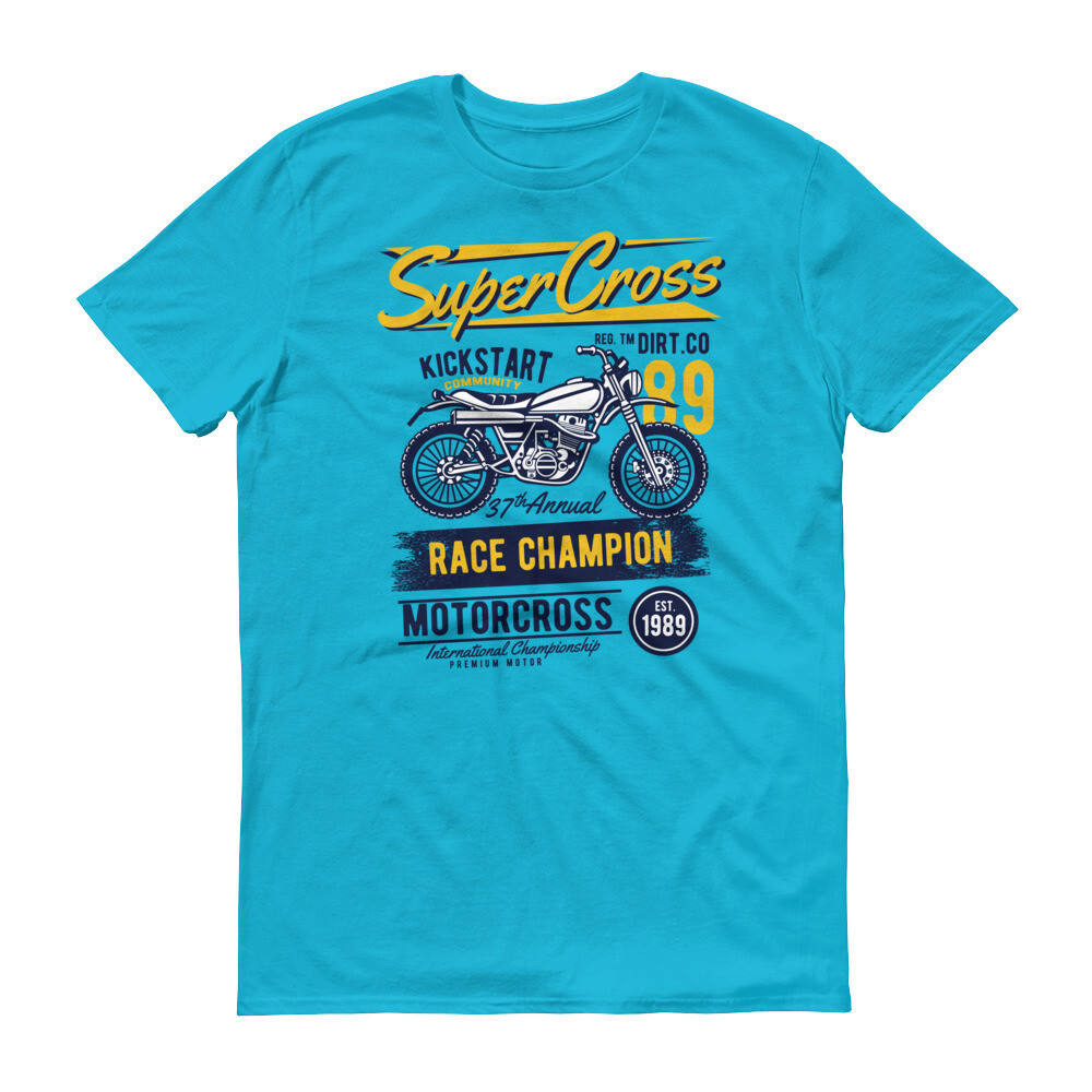 Super cross kickstart race champion motorcross Short-Sleeve T-Shirt