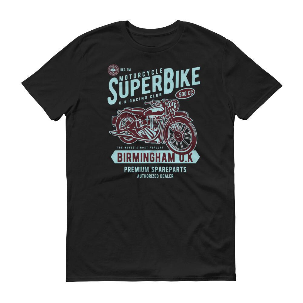 Super motorbike birmingham uk premium sparepart racing club Short-Sleeve T-Shirt