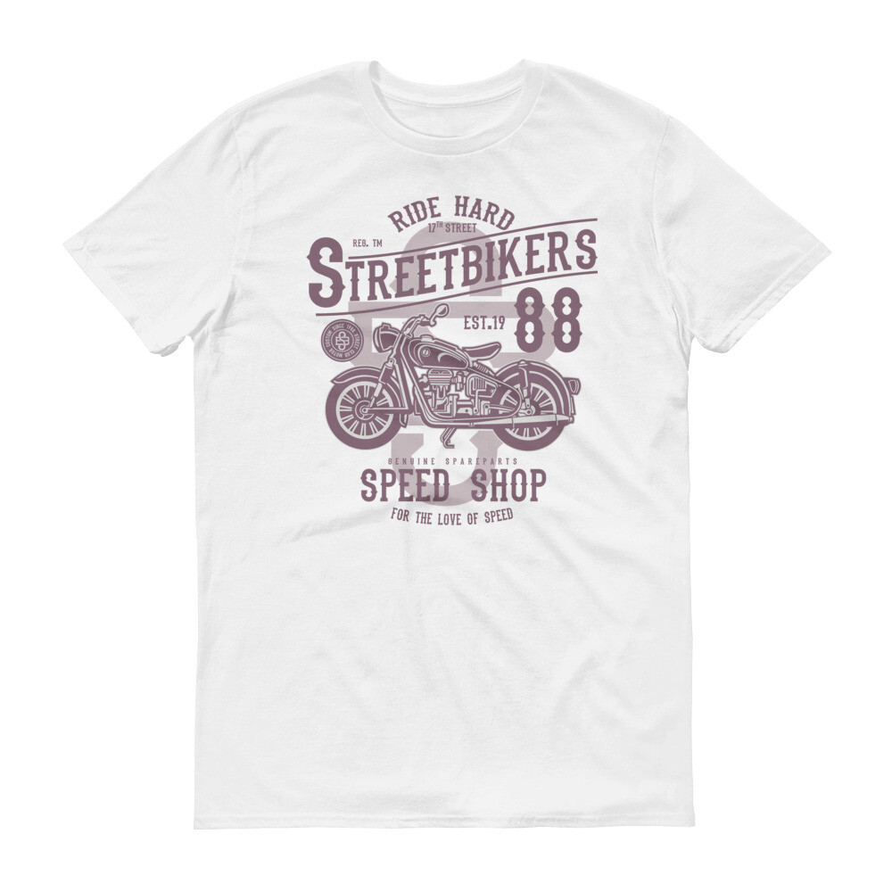 Ride hard street bikers speed shop motorbike Short-Sleeve T-Shirt