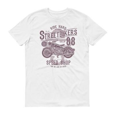 Ride hard street bikers speed shop motorbike Short-Sleeve T-Shirt