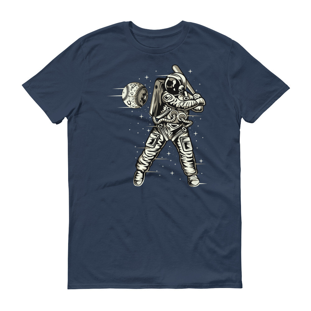 Space baseball astronout Short-Sleeve T-Shirt