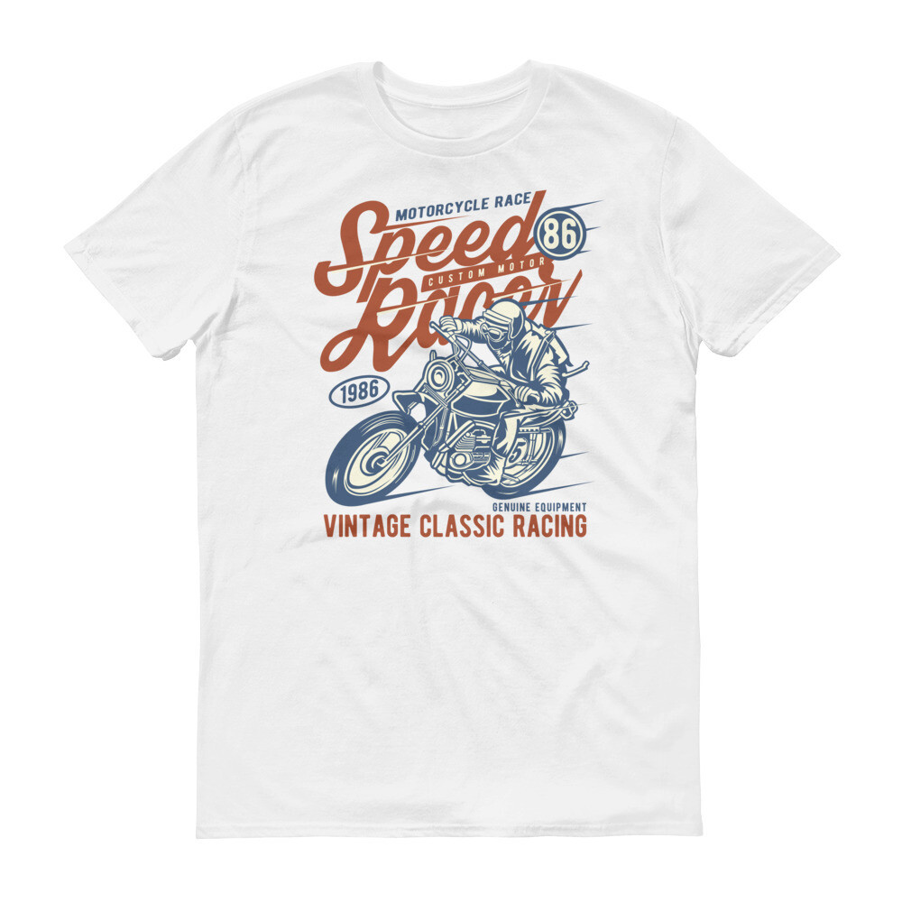 Speed racer motorcycle race vintage classic Short-Sleeve T-Shirt