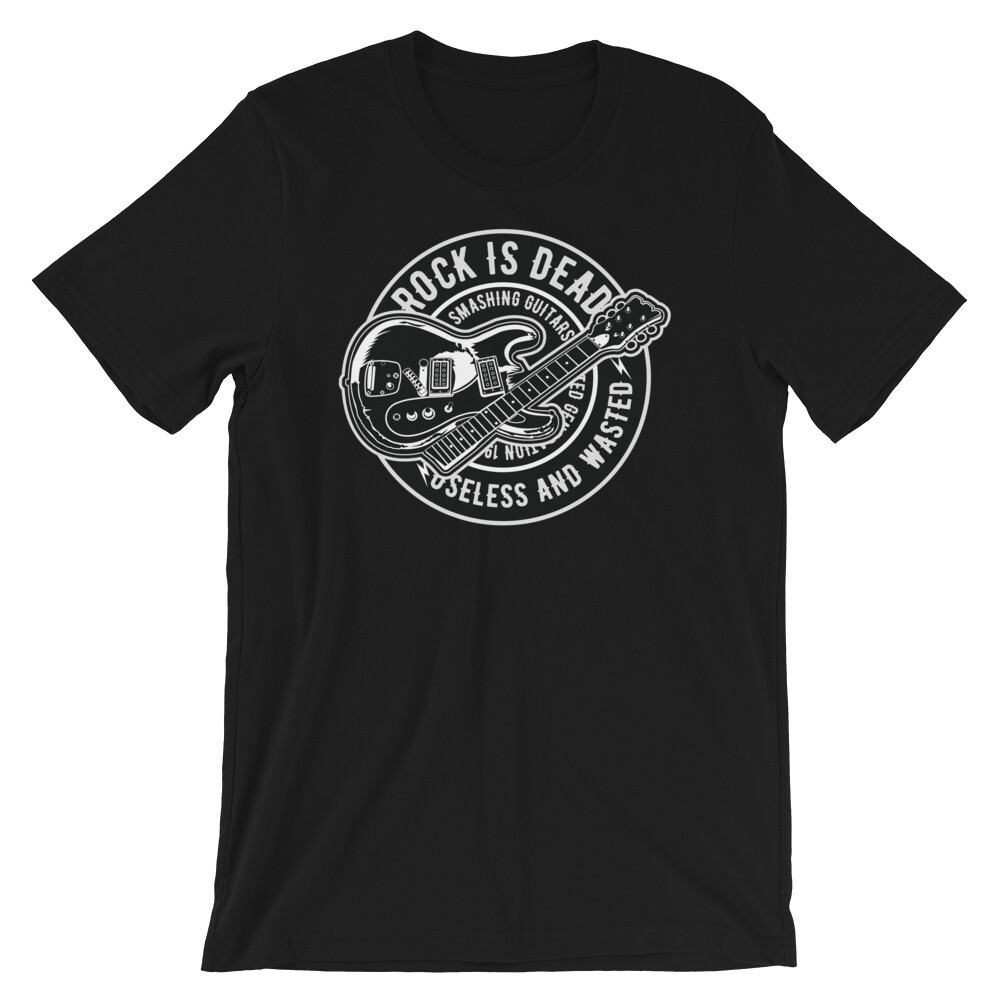 Rock is dead Short-Sleeve Unisex T-Shirt