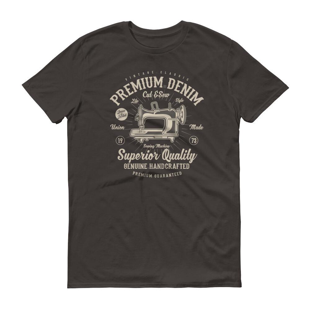Premium vintage denim superior quality genuine handcrafted tailor machine Short-Sleeve T-Shirt