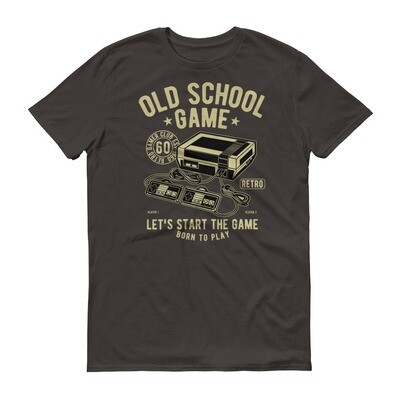 Old school game let's start the game born to play video games Short-Sleeve T-Shirt