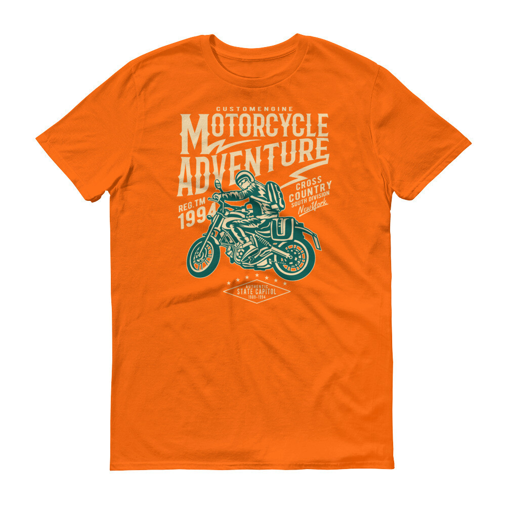 Custome engine motorcycle adventure cross country Short-Sleeve T-Shirt