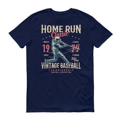 Home run classic vintage baseball championship baseball association Short-Sleeve T-Shirt