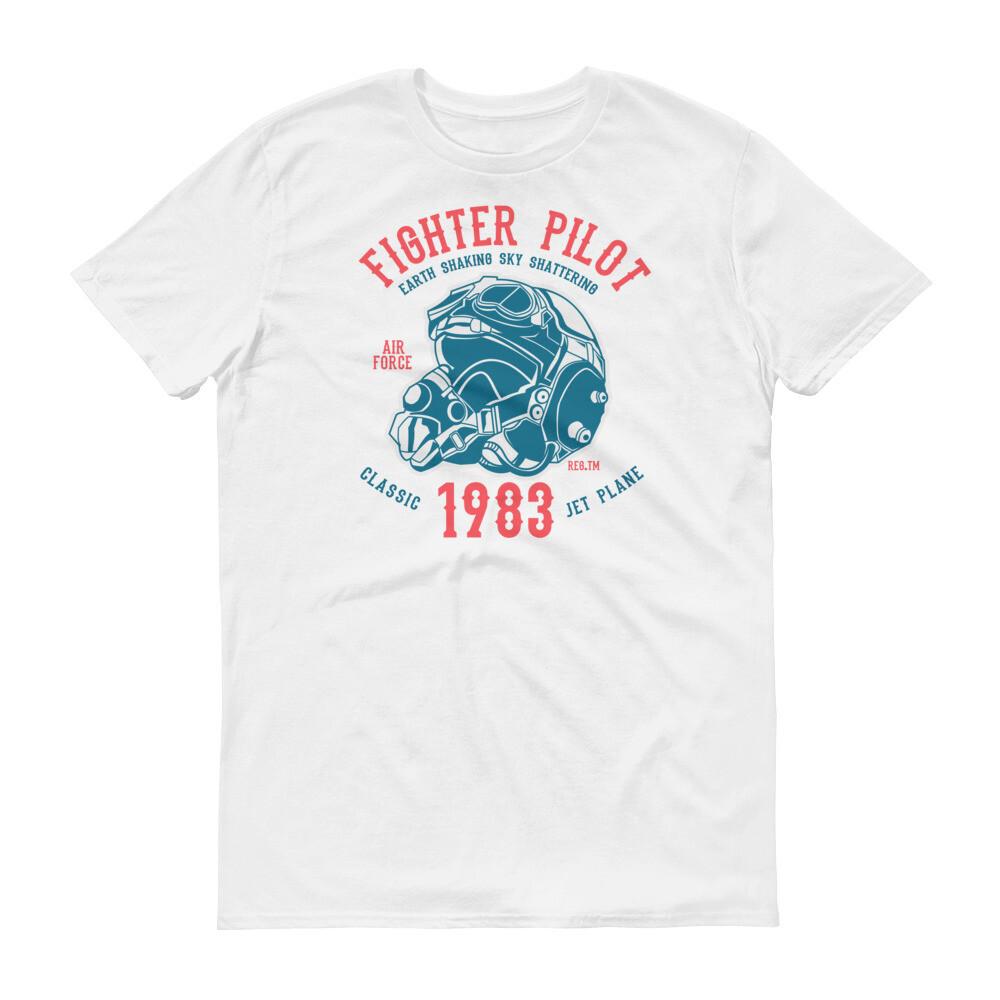 Fighter pilot earth shaking sky shattering classic jet plane Short-Sleeve T-Shirt