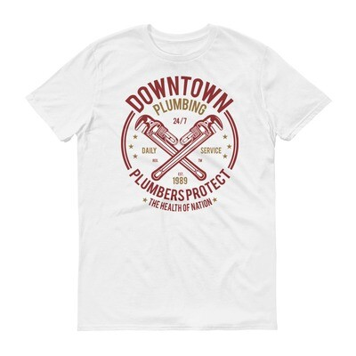 Downtown plumbing plumbers protect the health of nation Short-Sleeve T-Shirt