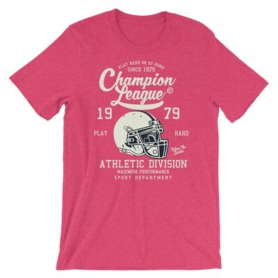champion league american football athletic division maximum performance sport department play hard Short-Sleeve Unisex T-Shirt