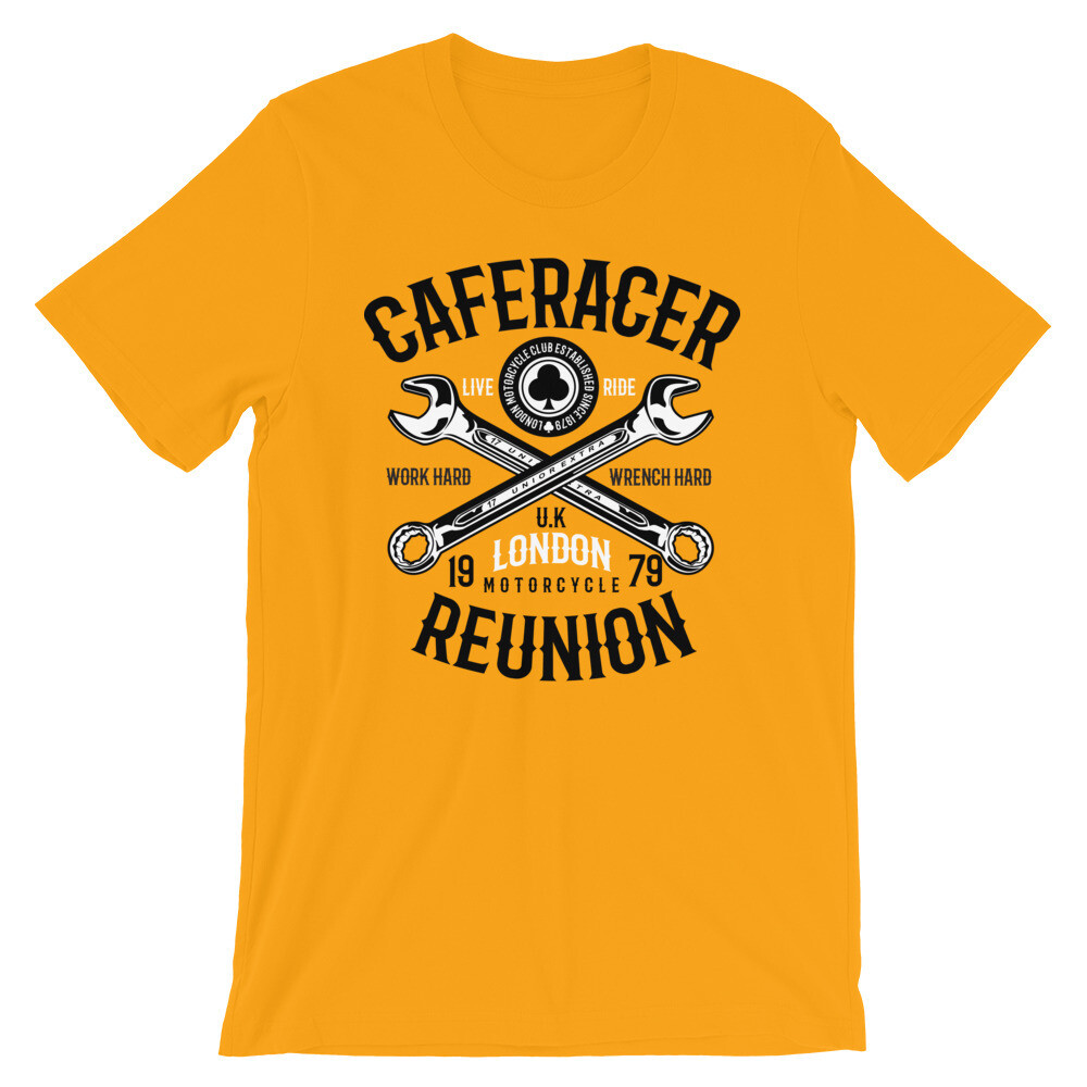 Caferacer reunion london live ride Short-Sleeve Unisex T-Shirt
