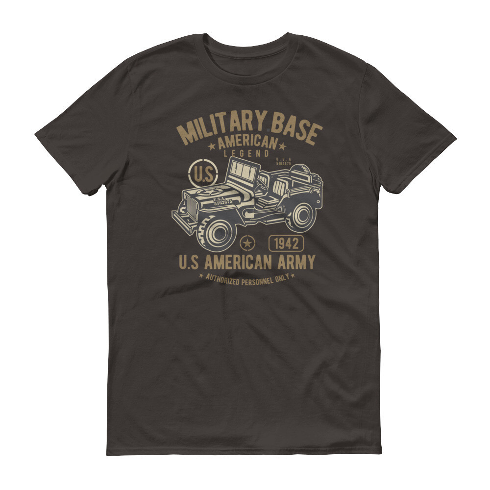 Military base american legend us army classic vintage car Short-Sleeve T-Shirt