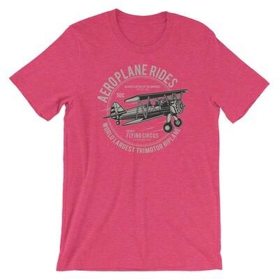 Aeroplane rides world largest motor biplane Short-Sleeve Unisex T-Shirt
