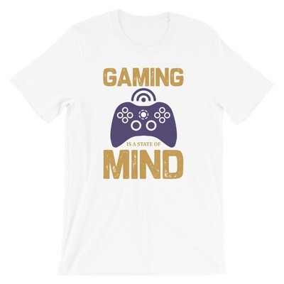 Gaming is a state of mine video games Short-Sleeve Unisex T-Shirt