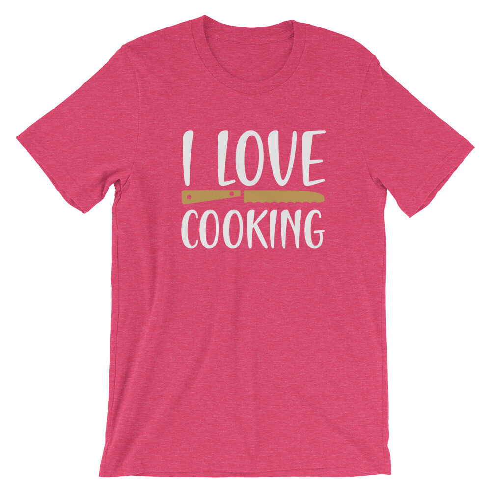 i love cooking Short-Sleeve Unisex T-Shirt
