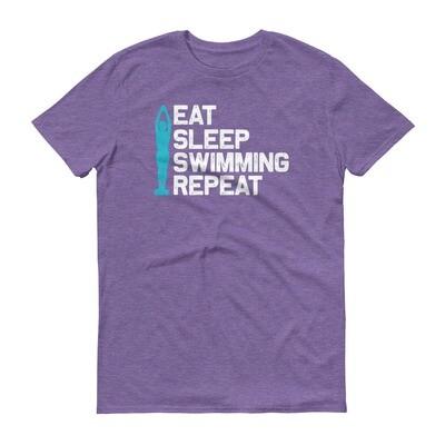 Eat sleep swimming repeat Short-Sleeve T-Shirt