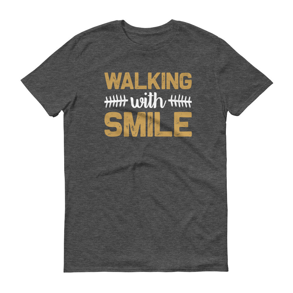 Walking with smile Short-Sleeve T-Shirt