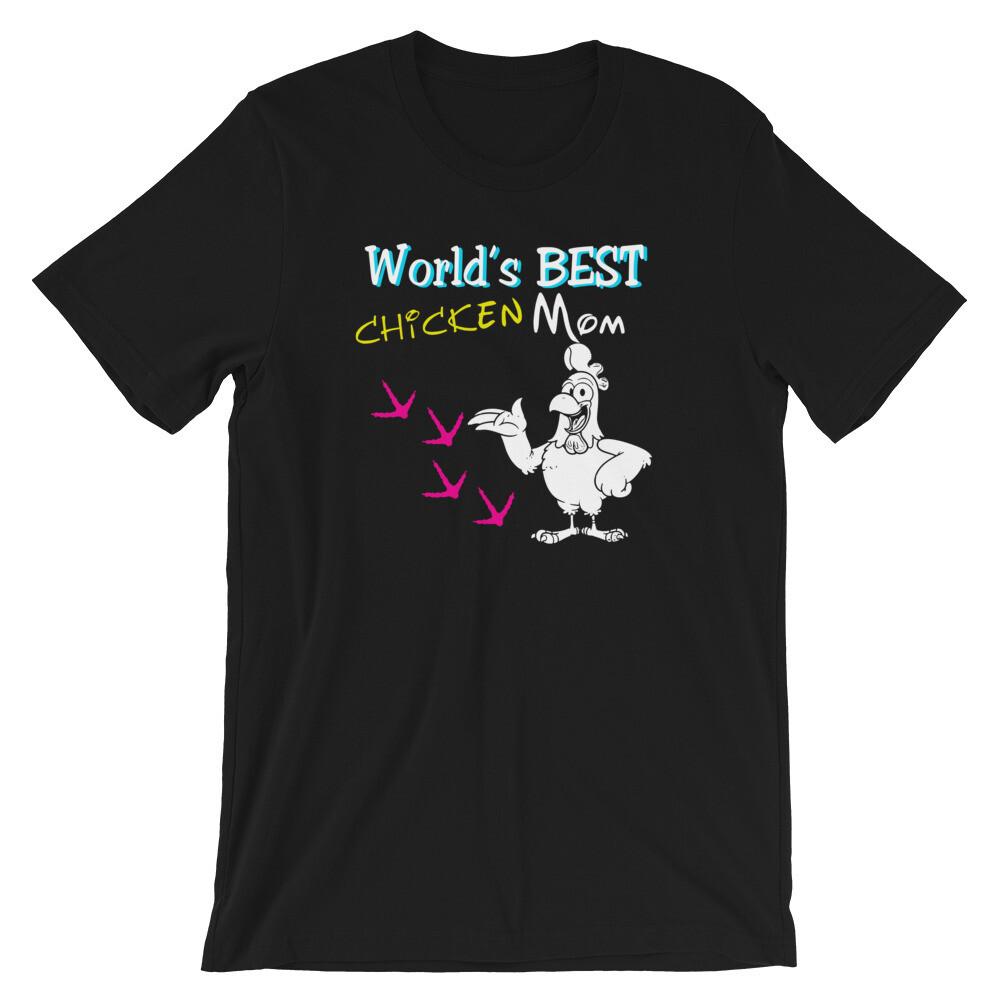 WOrld's best chicken mom Short-Sleeve Unisex T-Shirt