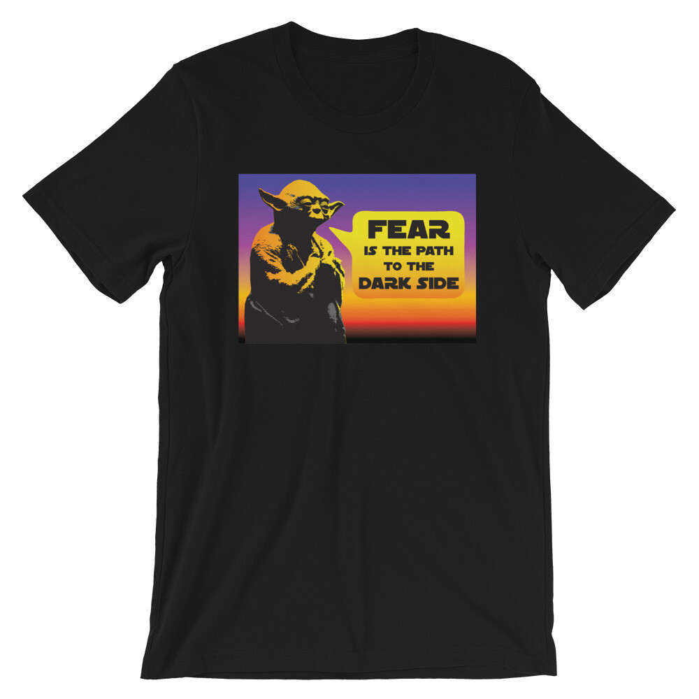 Yoda Fear is the path to the dark side Star wars Short-Sleeve Unisex T-Shirt