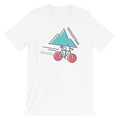 Biking moutain Short-Sleeve Unisex T-Shirt