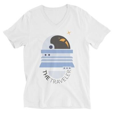 The traveler Unisex Short Sleeve V-Neck T-Shirt