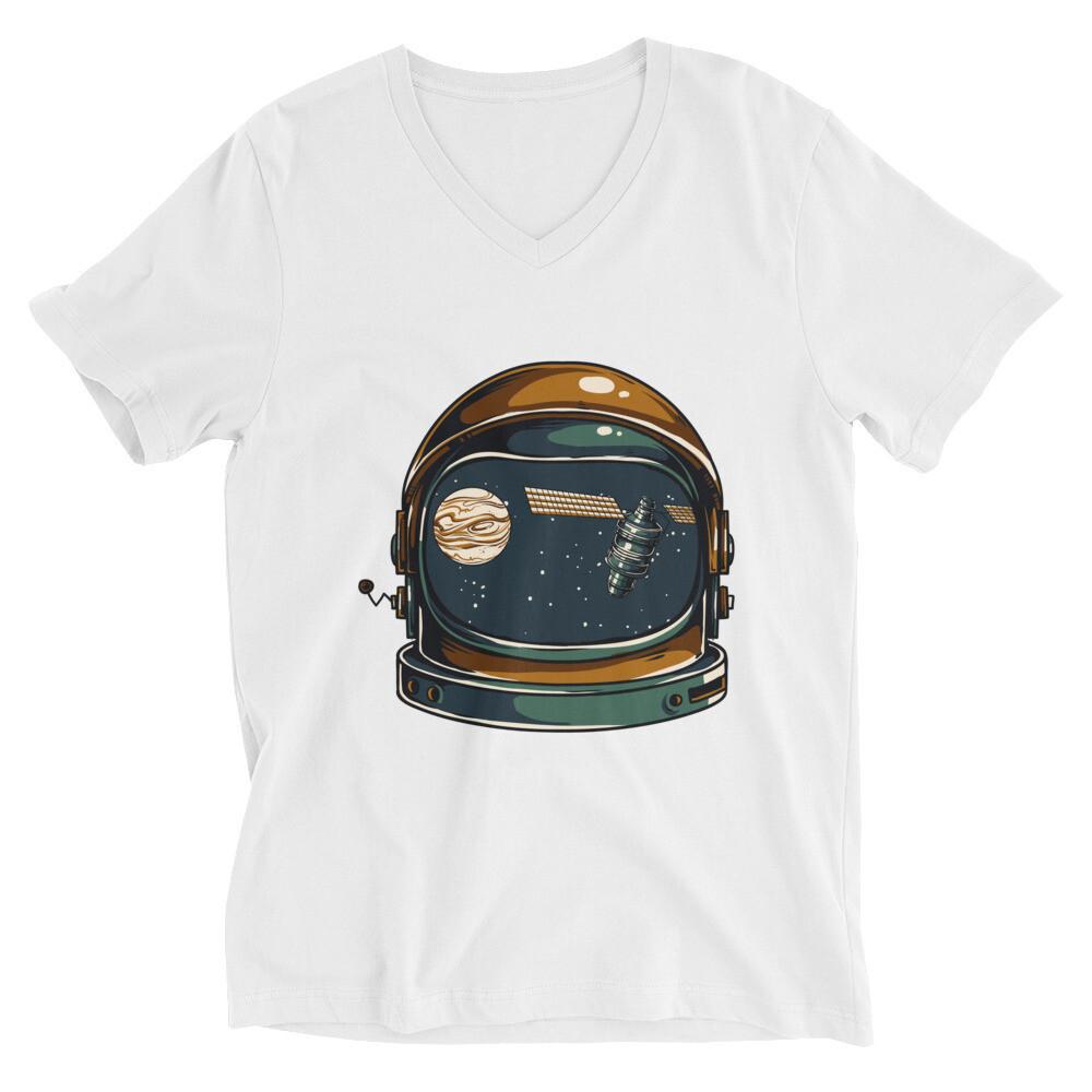 astrology helmet Unisex Short Sleeve V-Neck T-Shirt