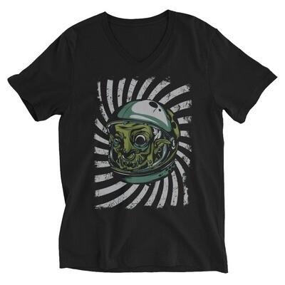 astrology zombie apocalypse Unisex Short Sleeve V-Neck T-Shirt