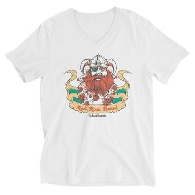 The red rose beard the bard warrior Unisex Short Sleeve V-Neck T-Shirt