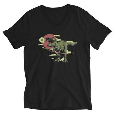crocodile Unisex Short Sleeve V-Neck T-Shirt