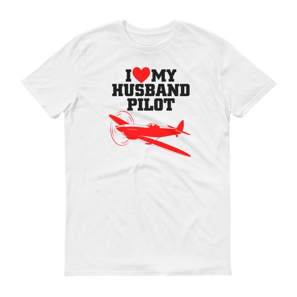 i love my husband pilot Short-Sleeve T-Shirt