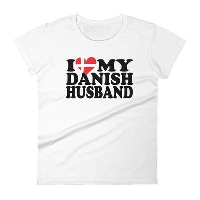 i love my danish husband Women's short sleeve t-shirt