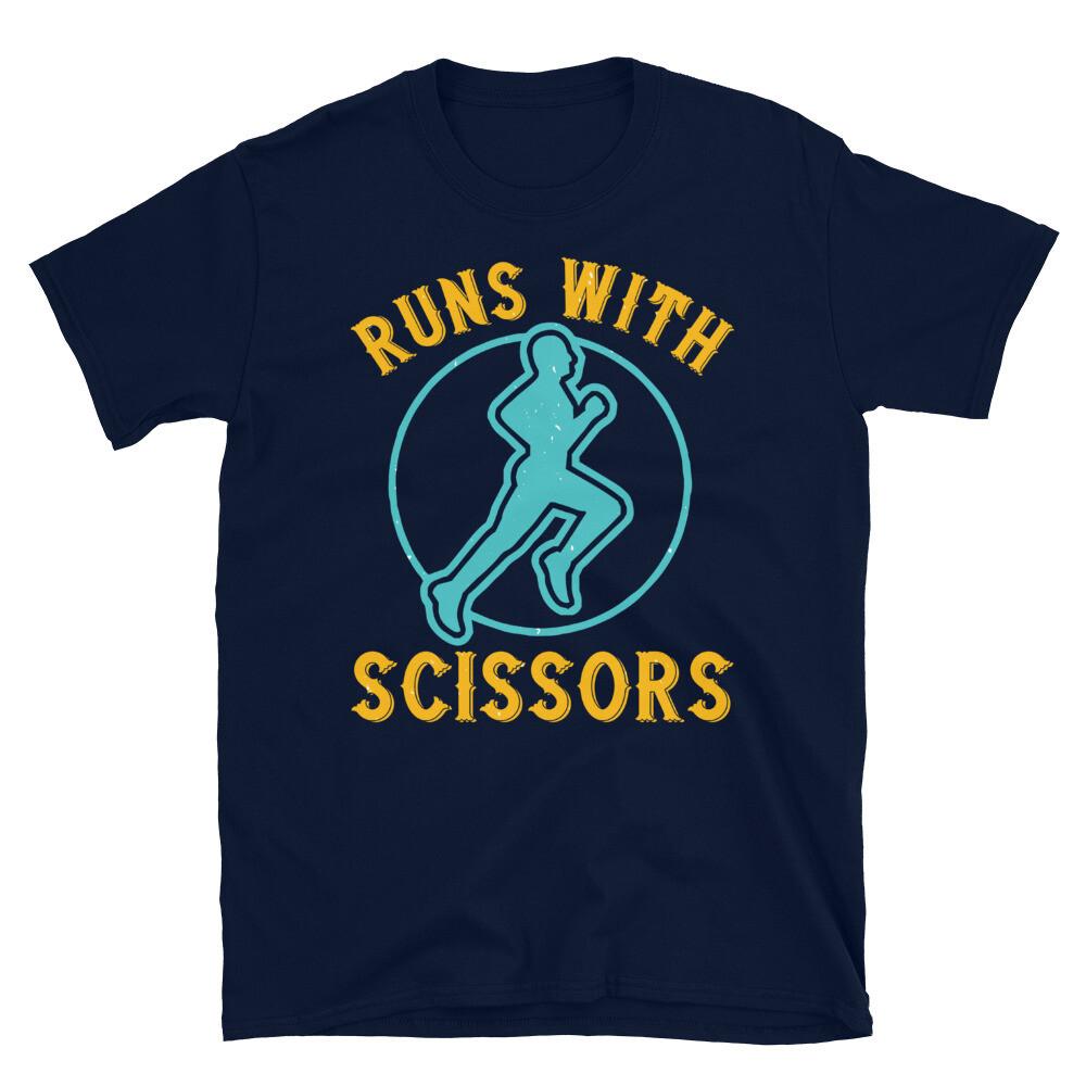 run with scissors Short-Sleeve Unisex T-Shirt