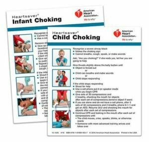 AHA Heartsaver® Child And Infant Choking Wallet Card (15-1045)