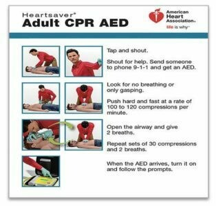 AHA Heartsaver® Adult CPR AED Wallet Card (15-1024)