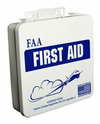 24PW FAA Federal Aviation First Aid Kit in Poly White