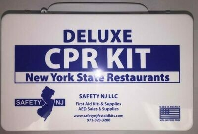 Deluxe CPR KIT with Sign - New York State Restaurants