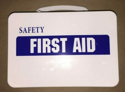 Empty Poly White boxes 16PW First Aid - Safety printed on front panel - Certified (209-006)