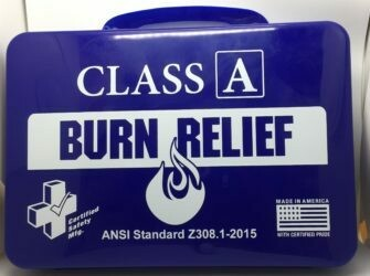 First Aid Kit - 18PN - Class A Burn Kit - Poly Navy - Certified (616-017)