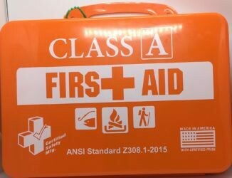First Aid Kit - 18PO  Class A Outdoor - Poly Orange - Certified  (616-012)