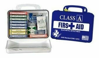 First Aid Kit - Class A BMD Kit 16-18 (Blue Metal Detectable) Replaces Restaurant Kit - Certified (616-060)