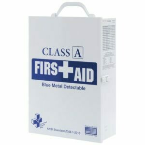 First Aid Kit  - Restaurant - 75V Class A Blue Metal Detectable - 3 Shelf Cabinet - Certified (616-035)  - Food Industry