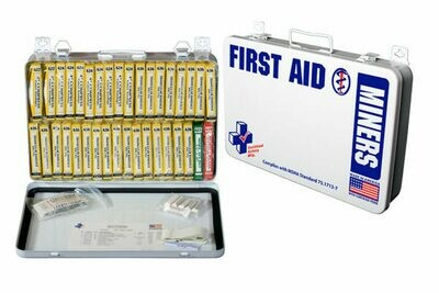 Miners First Aid Kit  Complies with MSHA Standard 75.1713-7