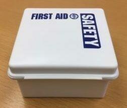 """Plastic First Aid Box Empty 5"""" x 5"""" x 2.5"""" # 209-000"""